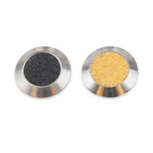 Indikatorer i kiselkarbid. Produktnamn: AKIK svart och gul.